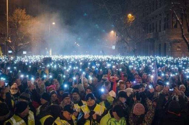 Thousands-Brave-Cold-to-Protest-Hungary's-Far-Right-Leader-Global-Politics-Dkoding