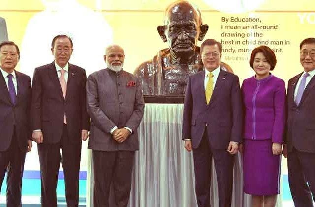Ideals-Gandhi-terrorism-climate-change-PM-Modi-Seoul-South-Korea-Yonsei-University-Videos-Dkoding