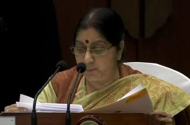 sushma-swaraj-zero-tolerance-india-politics-dkoding