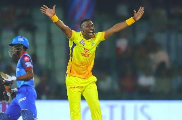 Dwayne-bravo-celebrating-a-wicket-against-DC-ipl-2019-cricket-sports-DKODING