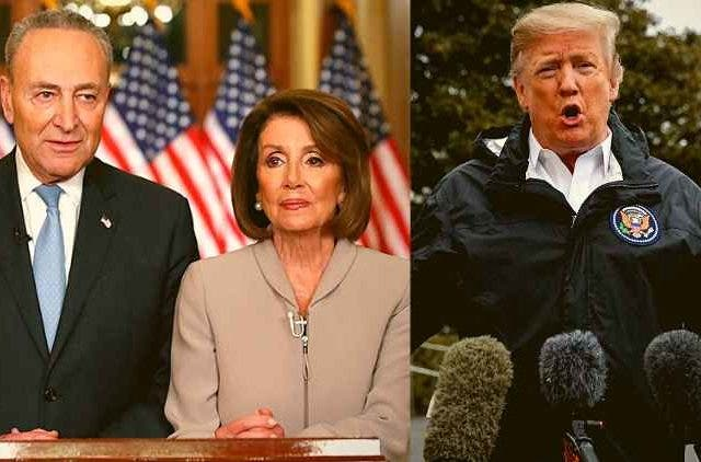Nancy-Pelosi-Charles-Schumer-Donald-trump-US-mexico-wall-global-news-political-news-Dkoding