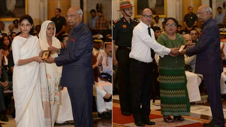 President-Kovind-Gallantry-Awards-Distinguished-Service-Decorations-Ram-Nath-Kovind-CRPF-personnels-Narendra-Modi-Videos-DKODING