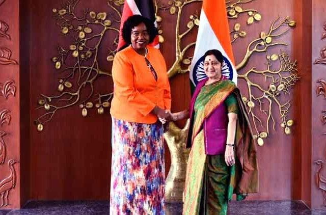 Susma-Swaraj-Kenya-Foreign-Minister-Monica-H-Juma-External-Affairs-MinisterJoint-Commission-meeting-Videos-Dkoding
