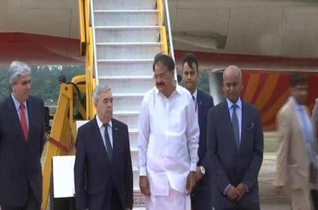 Venkaiah-Naidu-reaches-Paraguay-Politics-India-Dkoding