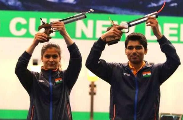 manu-bhaker-saurabh-chaudary-make-world-record-in-10m-air-pistol-mixed-team-match-others-sports-DKODING