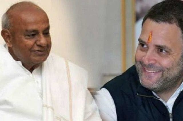 rahul-gandhi-to-meet-deve-gowda-in-delhi-Politics-India-Dkoding