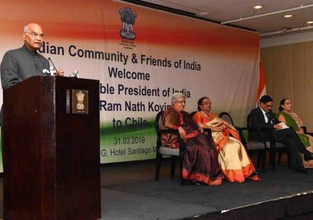 President Kovind-addresses-Indian-community-in-Chile-More-News-DKODING
