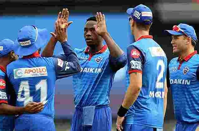 kagiso-rabada-and-other-delhi-capitals-players-celebrating-a-wicket-ipl-2019-cricket-sports-DKODING