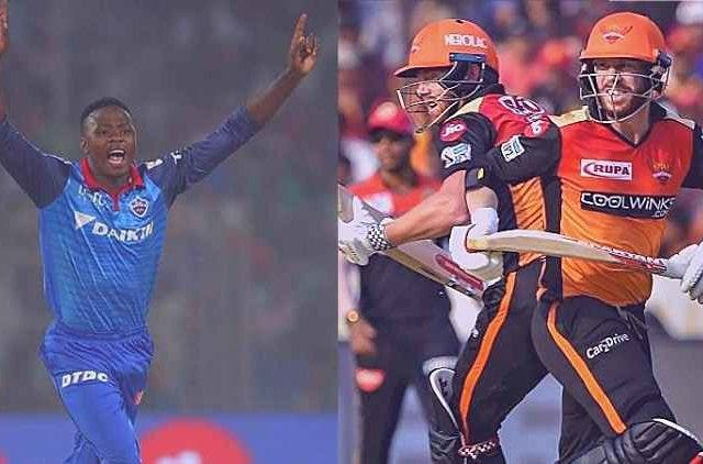 kagiso-rabada-delhi-capitals-david-warner-and-jonny-bairstow-srh-ipl-2019-cricket-sports-DKODING