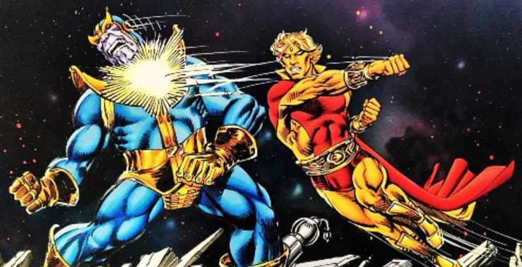 Adam-Warlock-Vs-Thanos-Fight-Hollywood-Entertainment-DKODING