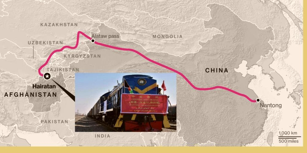 Afghanistan China Railway Route Newsline DKODING