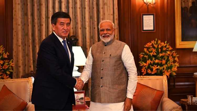 After-Taking-Oath-Modi-Holds-Bilateral-Talks-Kyrgyzstan-President-India-Politics-DKODING