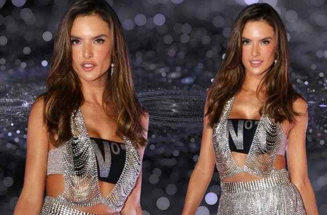 Alessandra looked stunned in a silver dress