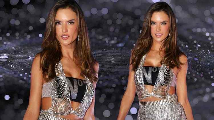 Alessandra Ambrosio Looks Like A Sexy Siren In Silver At  The Rio Carnival