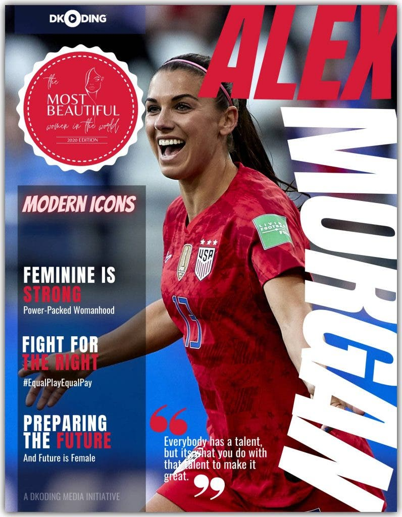 Alex Morgan was adjudicated among the 'PWI Most Beautiful Woman In The World (Timeless Icons)' at the People Who Inspire Awards 2020.