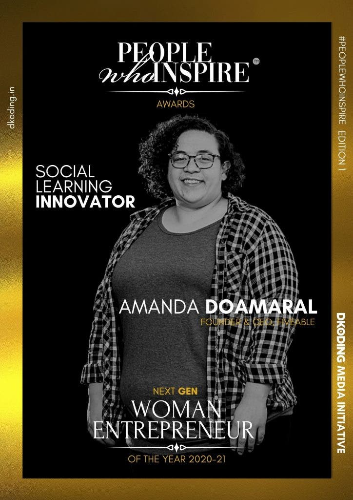 Amanda DoAmaral wins the People Who Inspire PWI Woman Entrepreneur of the Year Award 2020-21