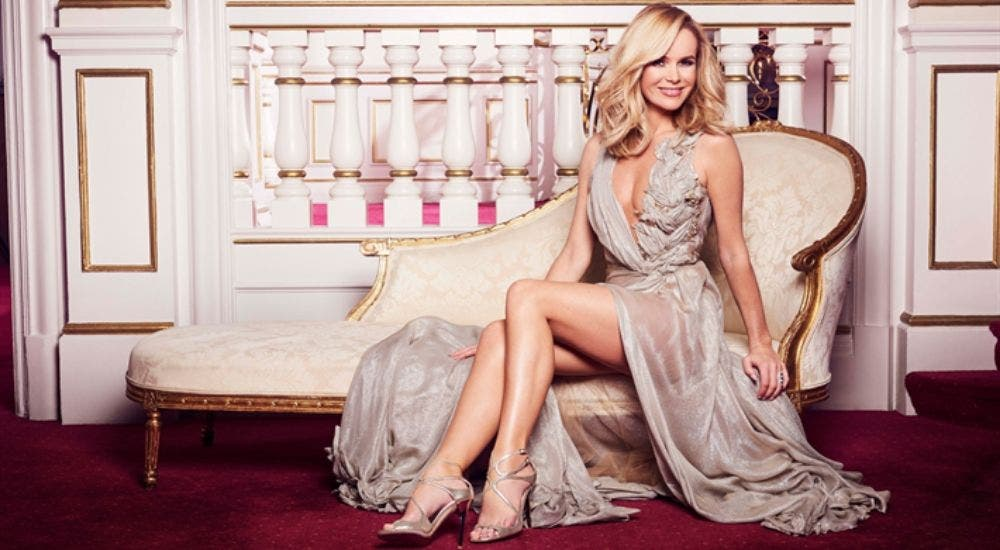 Amanda Holden appeared in thigh-high split gown during lockdown