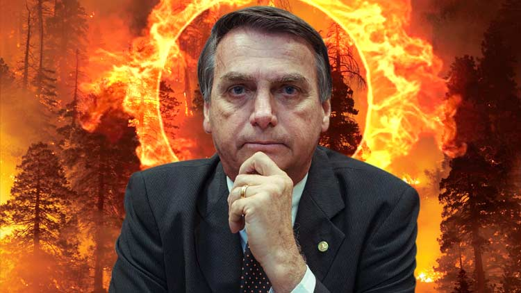 Amazon is on fire: Earth's Lungs burning while Bolsonaro cries Fake news