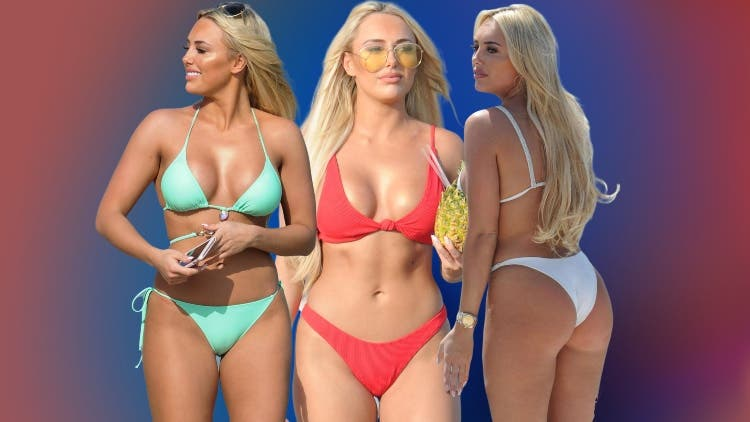 WATCH: Amber Turner Turn Up The Heat In Red, Green And White Bikini
