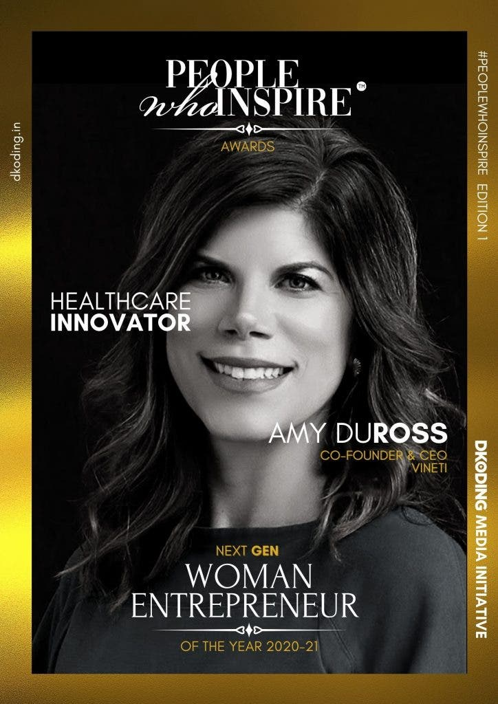 Amy DuRoss People Who Inspire PWI Woman Entrepreneur of the Year Award 2020-21