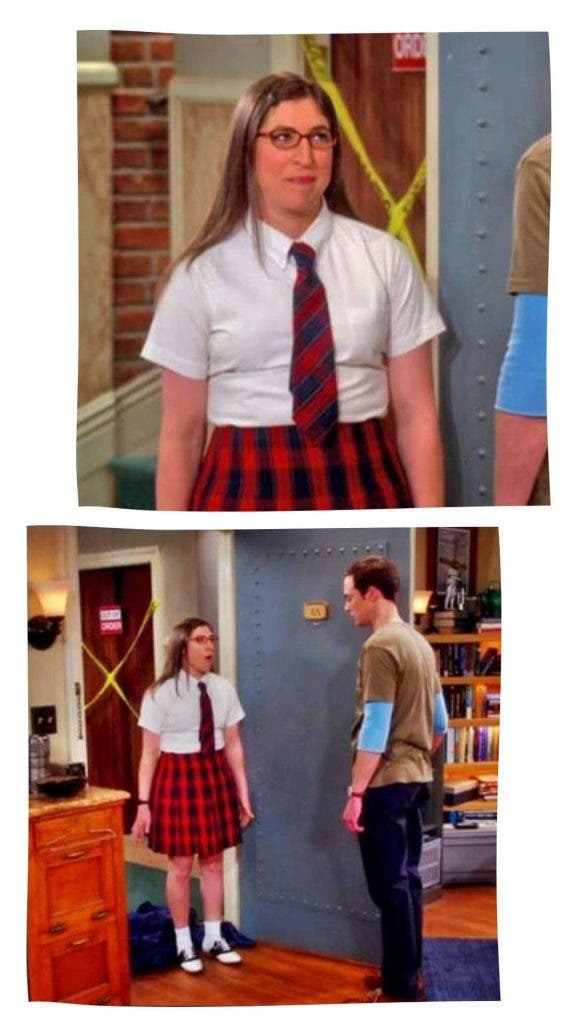 Amy In School Dress In The Big Bang Theory