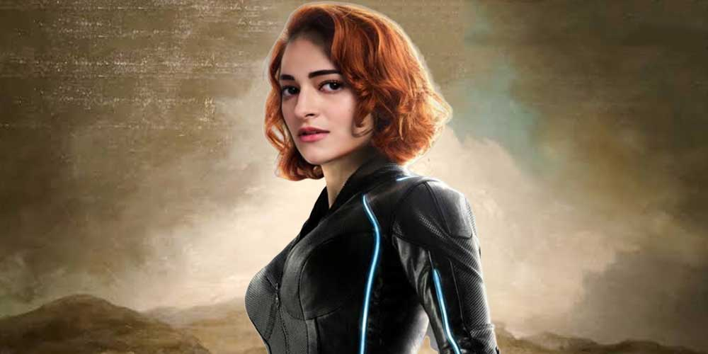Ananya Panday as Black Widow DKODING