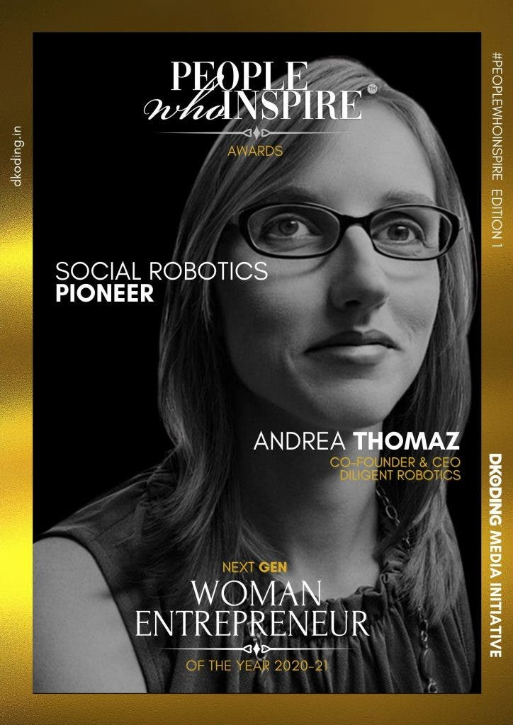 Andrea Thomaz People Who Inspire PWI Woman Entrepreneur of the Year Award 2020-21