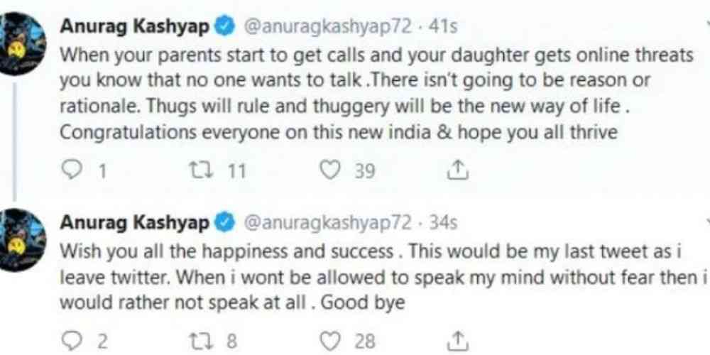 Anurag-Kashyap-Last-Tweets-Before-Quitting-Twitter-Bollywood-Entertainment-DKODING
