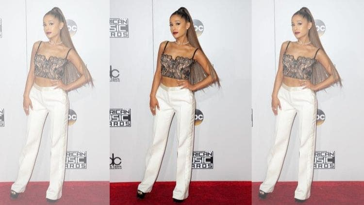 Ariana-Grande-Lingerie-On-Red-Carpet-Fashion-And-Beauty-Lifestyle-DKODING