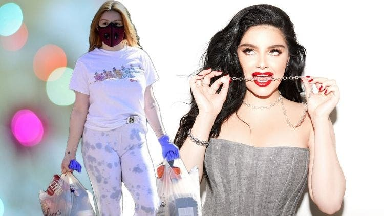 Is It The End Of The World? Ariel Winter Hoards Up Food Wearing Her Red Mask