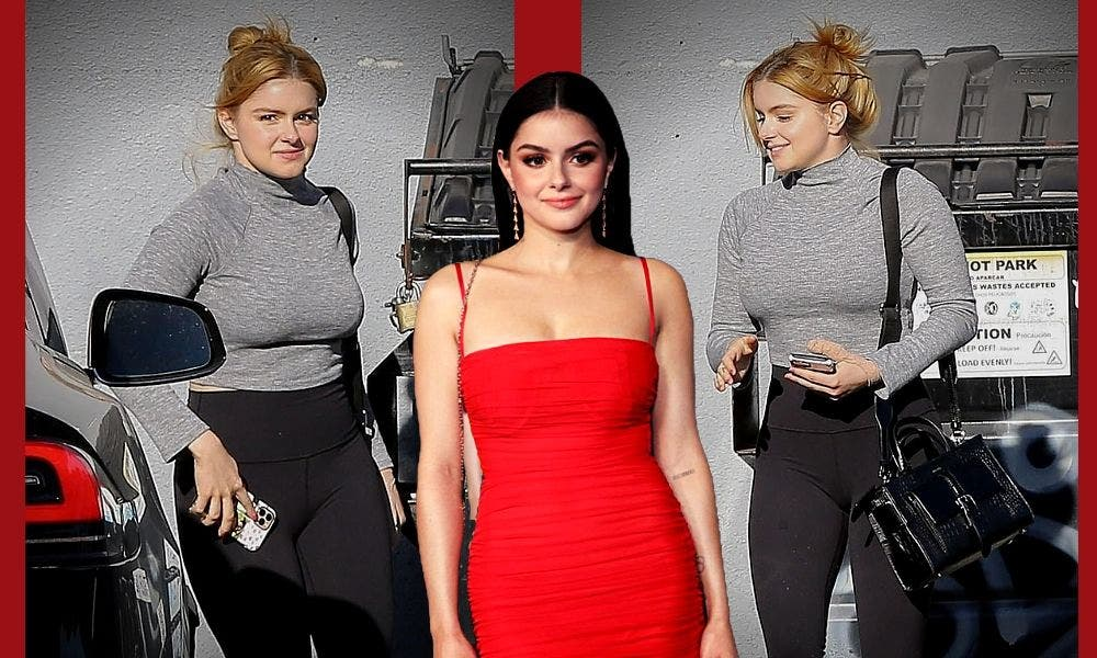 Ariel Winter without mask turtleneck sweater