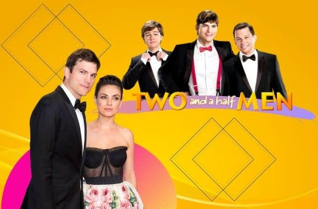 Ashton and Mila Reunion on Two and a half men reboot
