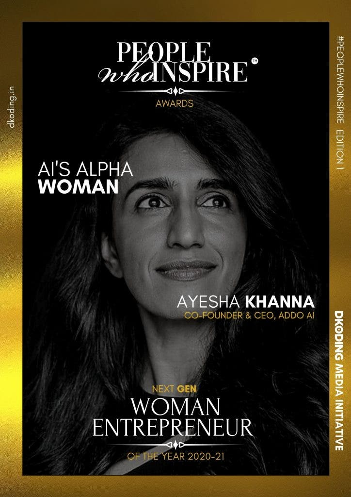 Ayesha Khanna People Who Inspire PWI Woman Entrepreneur of the Year Award 2020-21