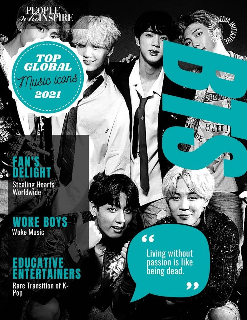 BTS Top Global Music Icons of 2021