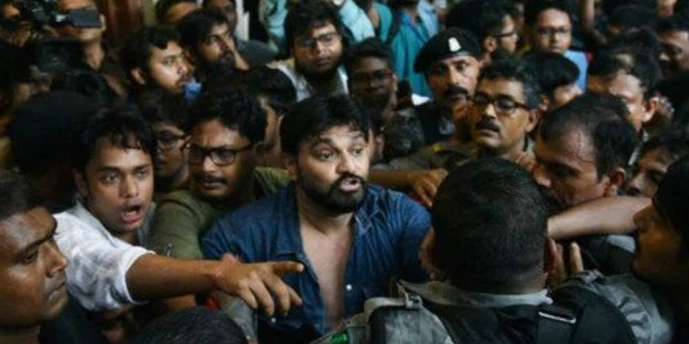 Babul Supriyo Stuck At West Bengal University