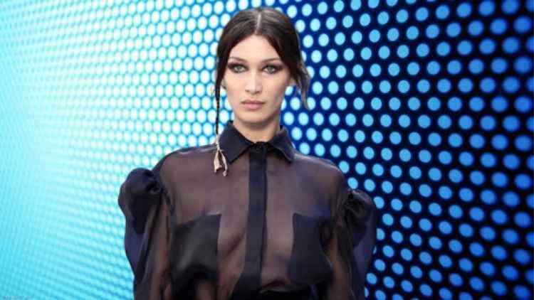 Less Is More: Bella Hadid Braved To Go Braless At Max Mara Milan Fashion Week