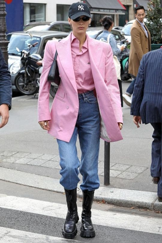 Bella Hadid Paris Fashion Look and her style file 2019