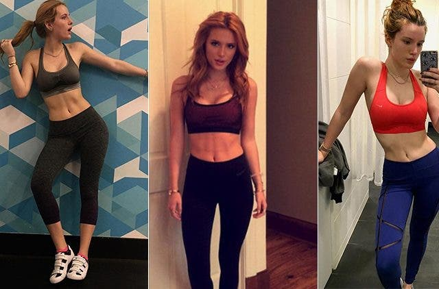Bella Thorne workout sessions