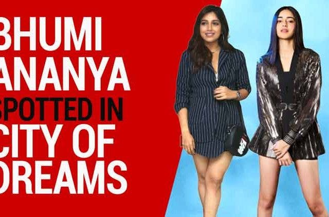 Bhumi-Ananya-seen-in-and-around-city-of-dreams-Videos-DKODING