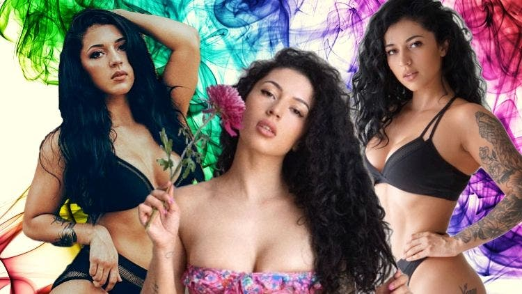 Hooked To The Strings: Bianca Taylor Owns Barely-There Metallic Bikini