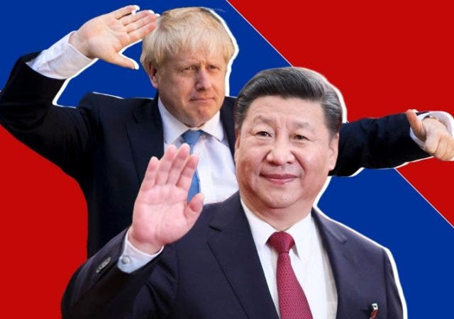 UK China Boris Johnson Xi Jinping