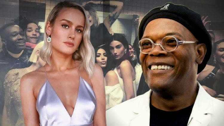 Samuel L Jackson Trolls Captain Marvel Brie Larson After Her Met Gala Picture Goes Viral