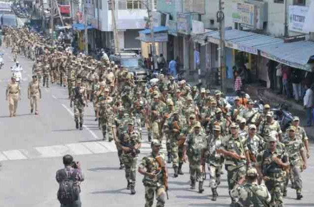 CRPF-Conducts-Route-March-In-East-Midnapore-Ahead-Of-6t- Phase-Of-LS-Elections-India-Politics-DKODING