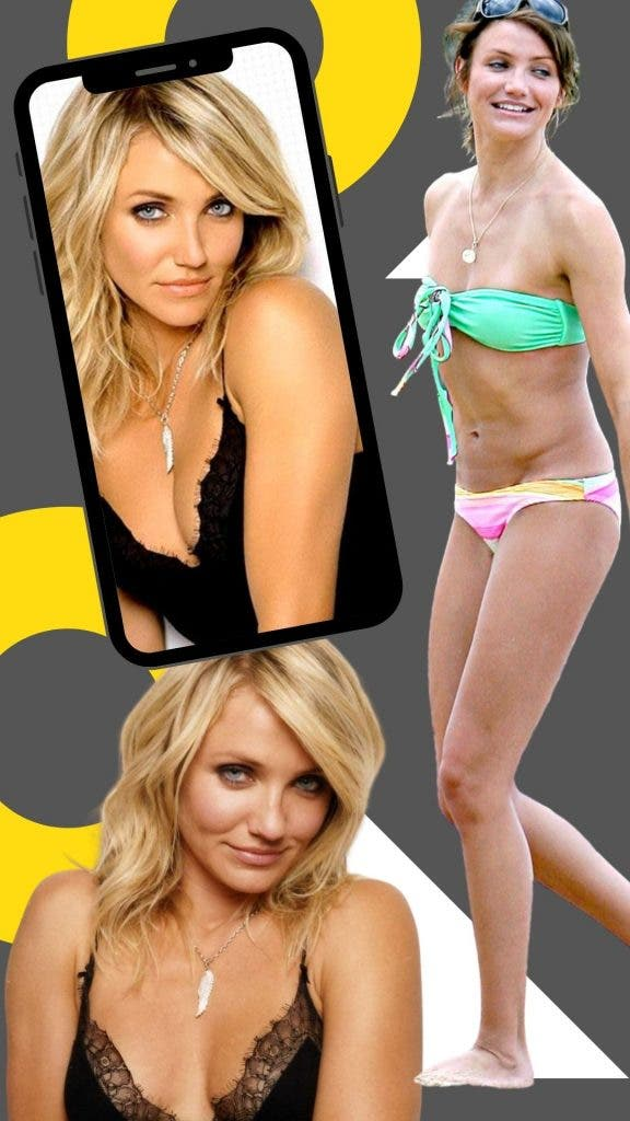 Cameron Diaz Wears Her Small Breats With Pride