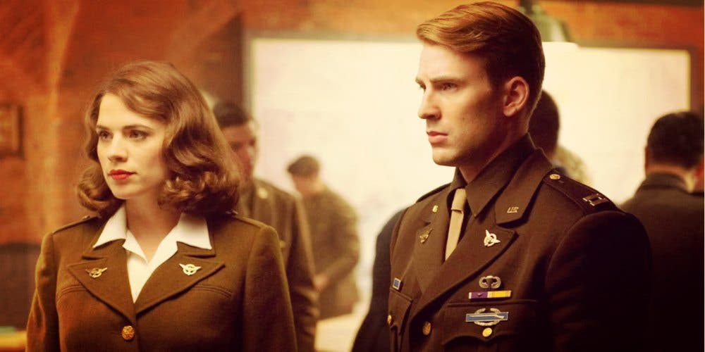 Captain America and Agent Peggy Carter
