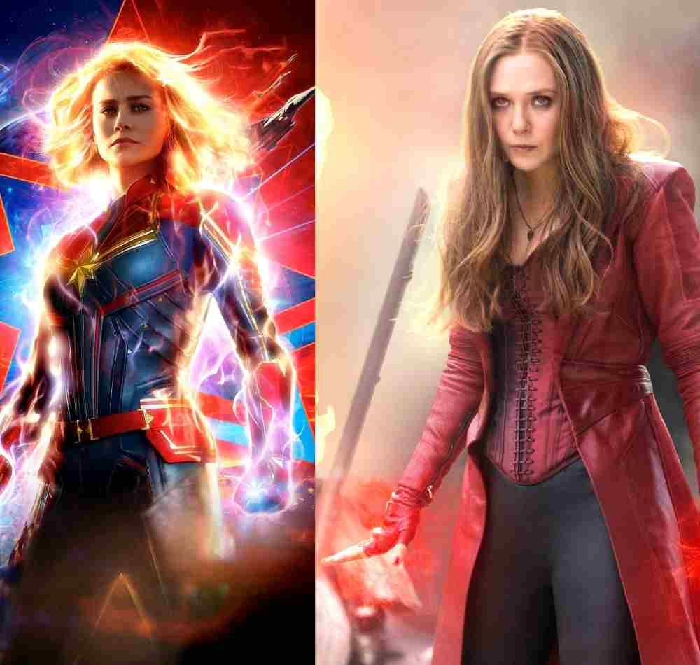 Captain Marvel and Scarlet Witch powers DKODING