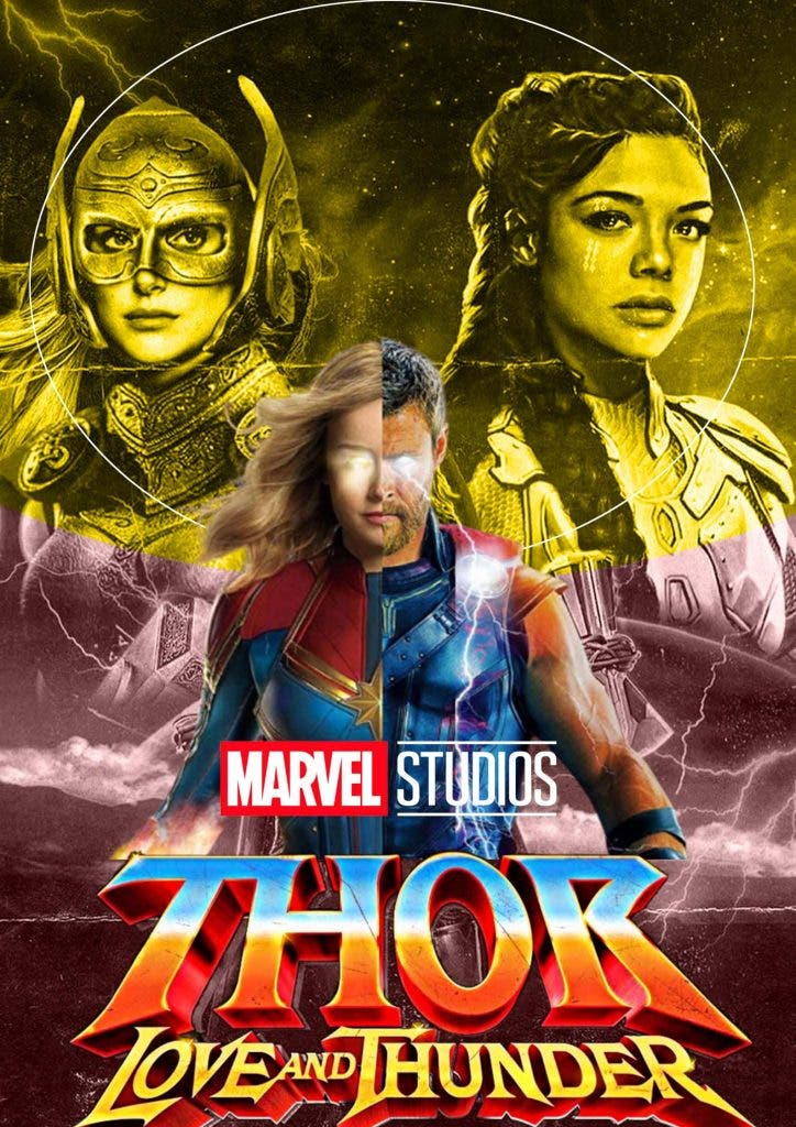 Captain-Marvel-To-Fight-Thor-In-Love And-Thunder-Trending-Today-Poster-DKODING