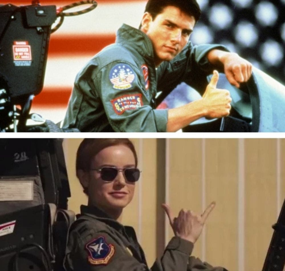 Captain Marvel and Tom Cruise