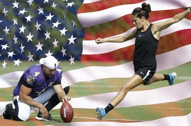 Carli-Lloyd-Soccer-Star-USA-Kick-A-55-Yard-Field-Goal-At-NFL-Eagles-Practice-Sports-DKODING