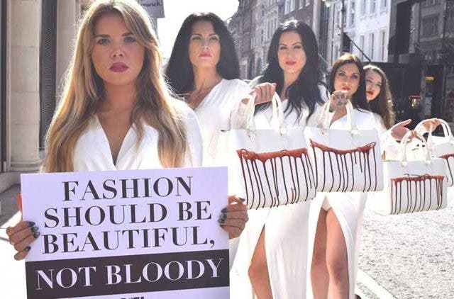 Climate-Activists-London-Fashion-Week-2019-Blood-Protesters-Trending-Today-DKODING
